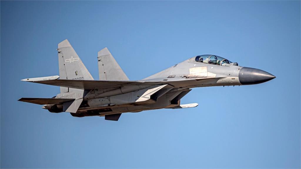 今日12架次殲-16擾台。示意圖/國防部提供