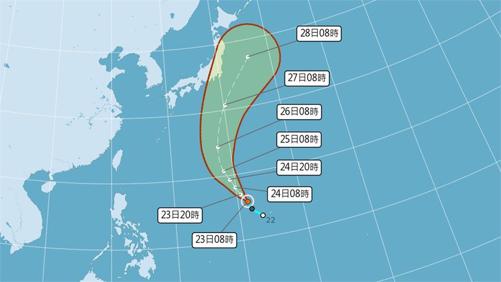 「薔琵」颱風生成。圖/翻攝自中央氣象局