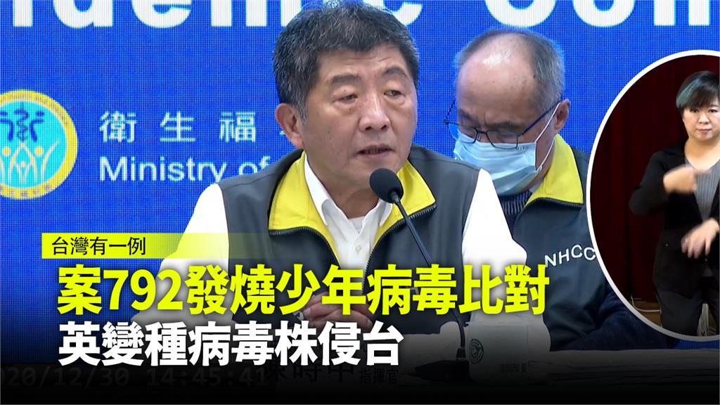 台灣出現英國變種病毒株。圖:台視新聞