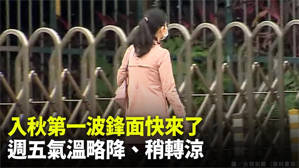 週五(24)起北台灣將受到入秋首波微弱東北風影響。圖/台視新聞