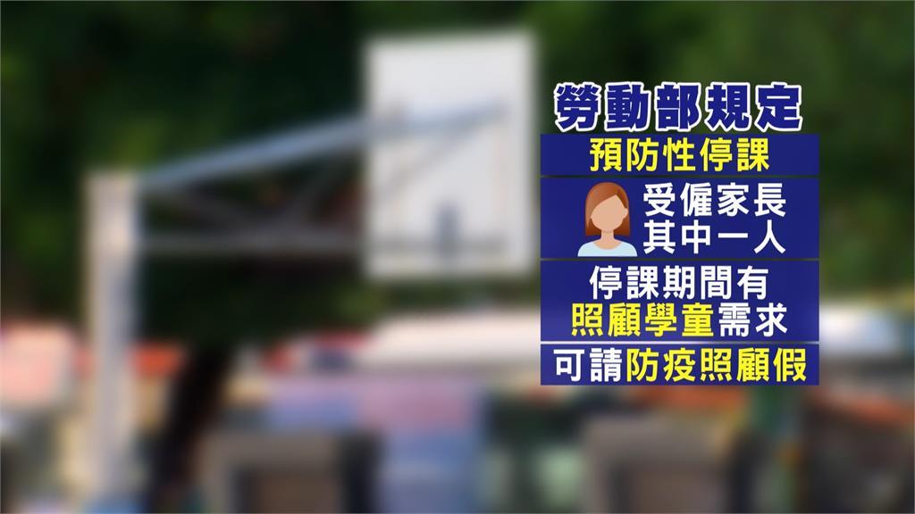 勞動部規定,當校園停課時,受僱家長的其中一人可請防疫照顧假。圖/台視新聞