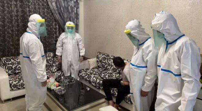 警方已經將男子強制安置在檢疫處所。圖/台視新聞