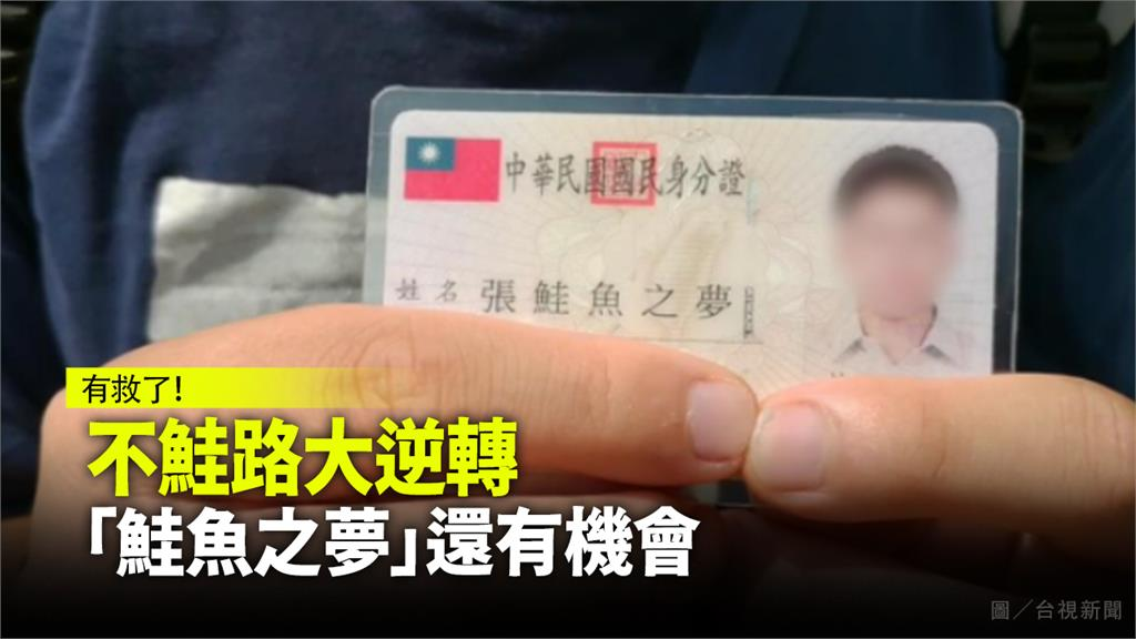 張姓男大生改名「鮭魚」還有機會改回來。圖:台視新聞(資料畫面)