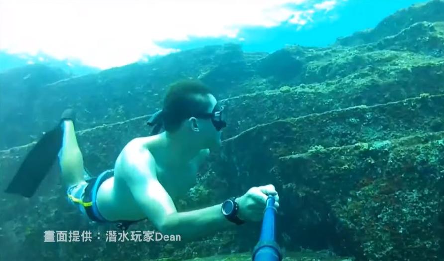 海底龍宮傳說是真的?日本學者在宜蘭外海發現古城遺跡。畫面提供:潛水玩家Dean