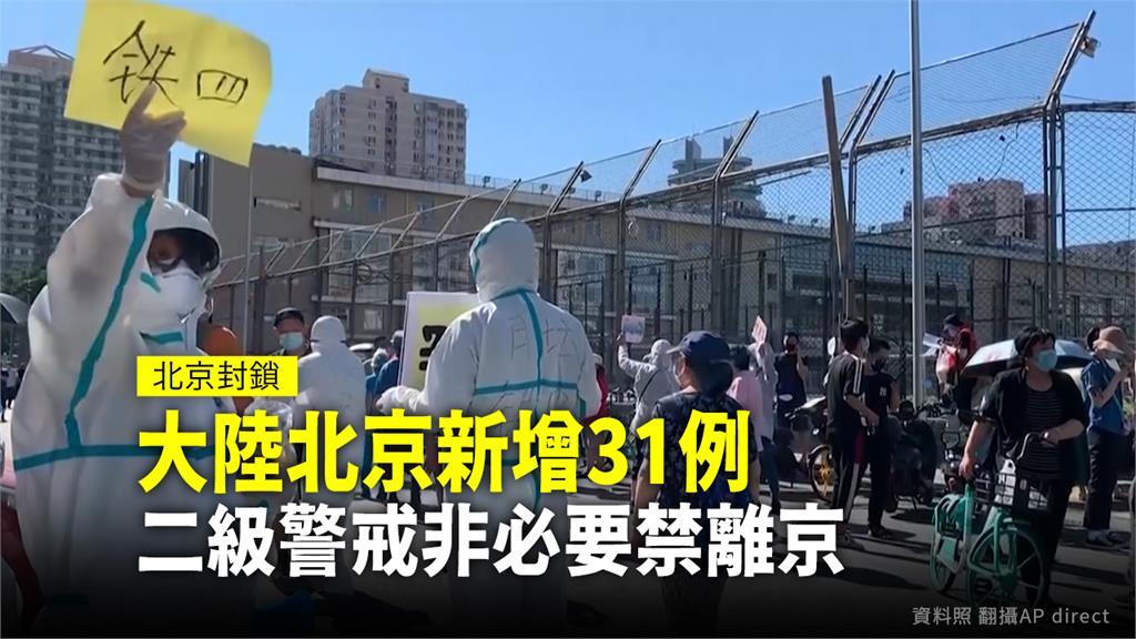 中國北京疫情再度爆發,官方緊急提升警戒至2級。圖:台視新聞