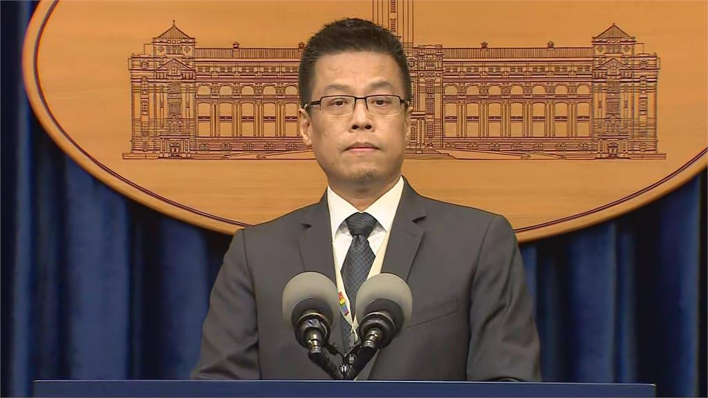 總統府今(18日)下午3點30分召開記者會宣布新人事。圖為發言人黃重諺;台視新聞