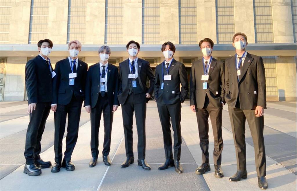 防彈少年團出席聯合國大會。圖/翻攝自Twitter@bts_bighit