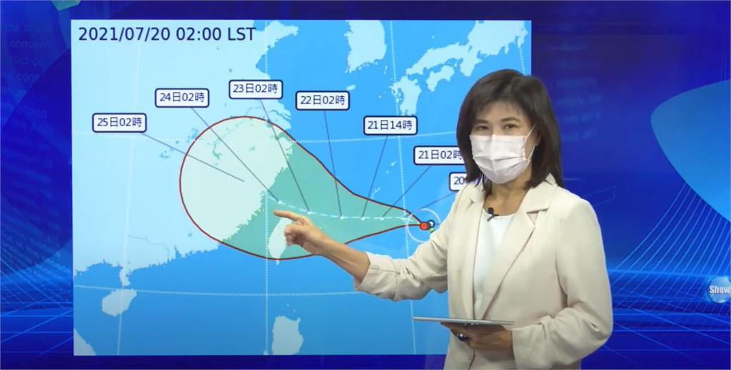 氣象局表示,第6號颱風「烟花」預估在今天下半天增強為中颱。圖/台視新聞