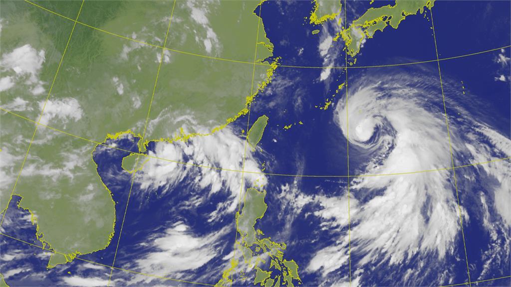 第7號颱風「查帕卡」生成。圖/翻攝自中央氣象局