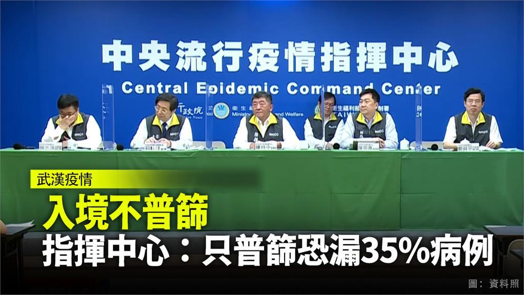 中央流行疫情指揮中心表示,目前並無實施入境者普篩之必要。圖:台視新聞