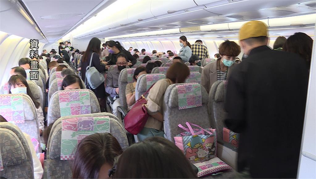 台灣近來出現「出國潮」,華航、長榮飛北美航班增加。圖/非凡新聞