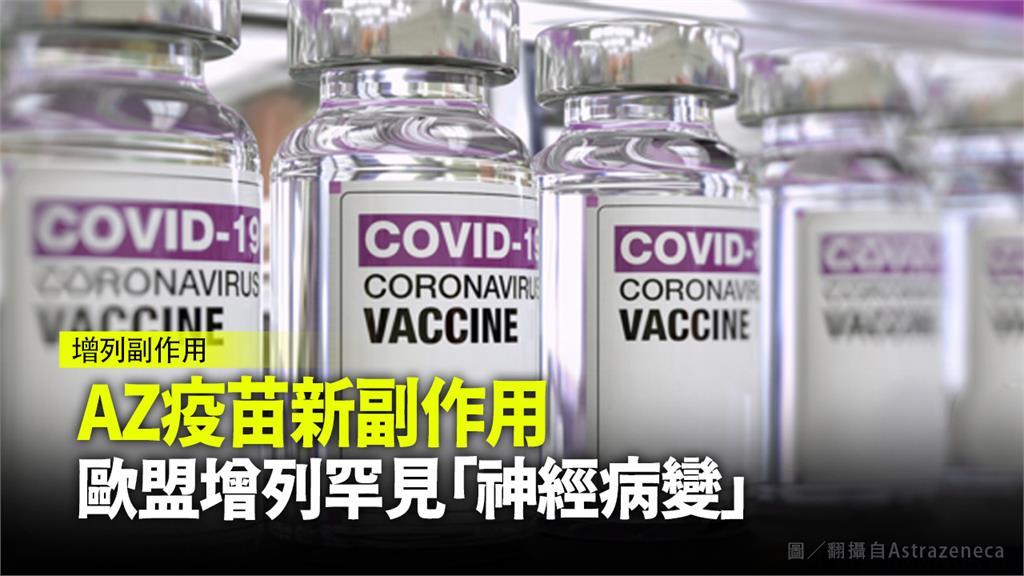 歐盟藥品管理局針對AZ疫苗增列可能的神經病變副作用。圖/翻攝自AstraZeneca
