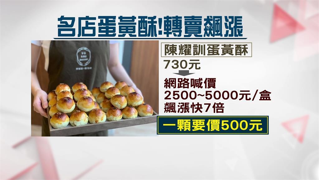 「蛋黃酥界愛馬仕」,轉賣1盒漲7倍喊價5千元。圖/非凡新聞