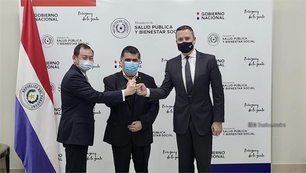 巴拉圭預購聯亞疫苗簽署儀式。圖/台視新聞