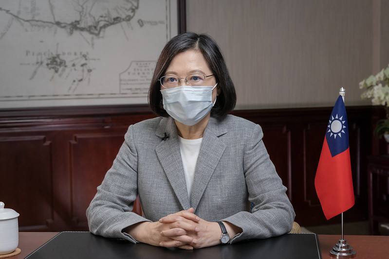 總統蔡英文今(7)日下午針對國內防疫工作發表談話。圖/總統府提供
