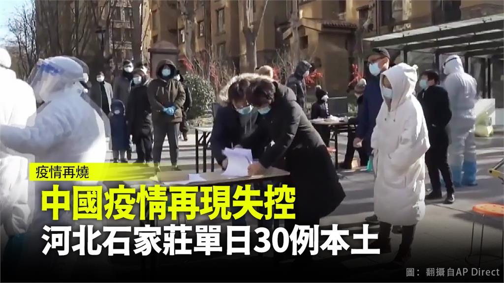 中國河北省石家莊8日單日新增30起本土確診病例。圖:台視新聞
