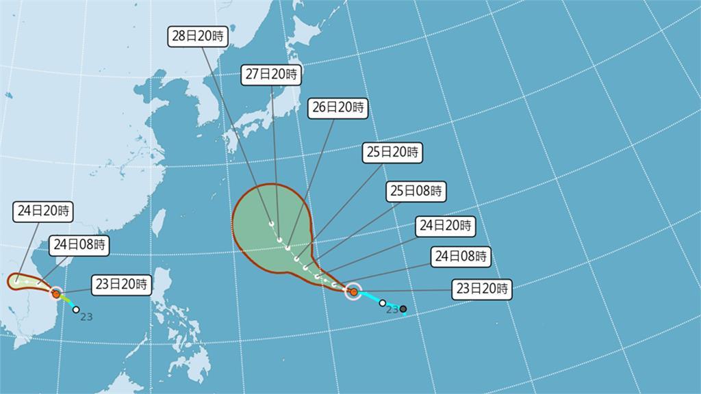 今年第16號颱風「蒲公英」生成!對台灣無直接影響