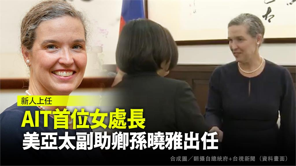 國務院亞太副助卿孫曉雅將出任AIT台北辦事處處長。合成圖/翻攝自總統府+台視新聞(資料畫面)