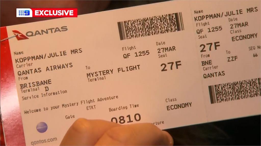 澳洲航空推出神祕航班。圖/翻攝自AP Direct