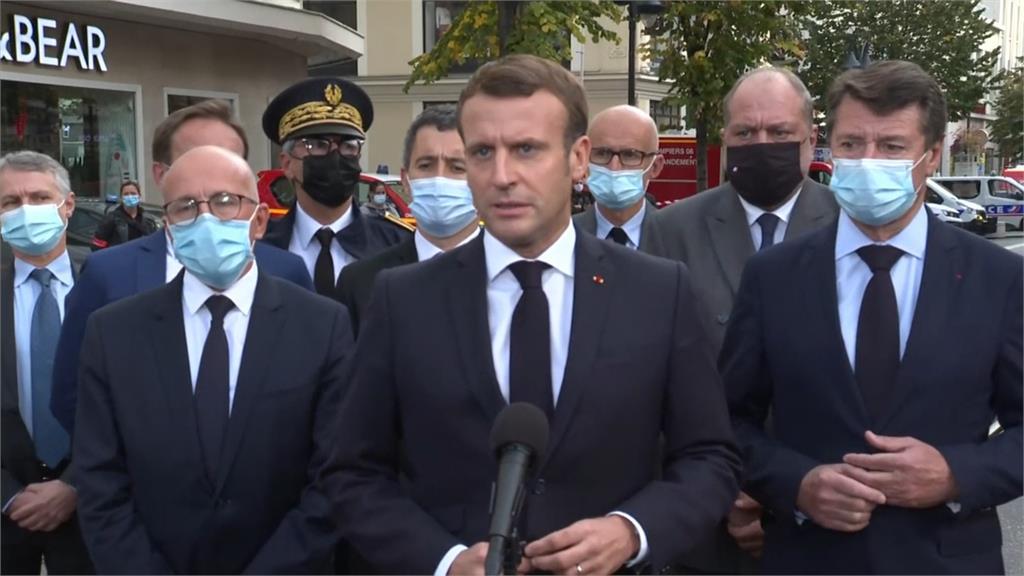 法國總統馬克宏。圖:翻攝自AP Direct