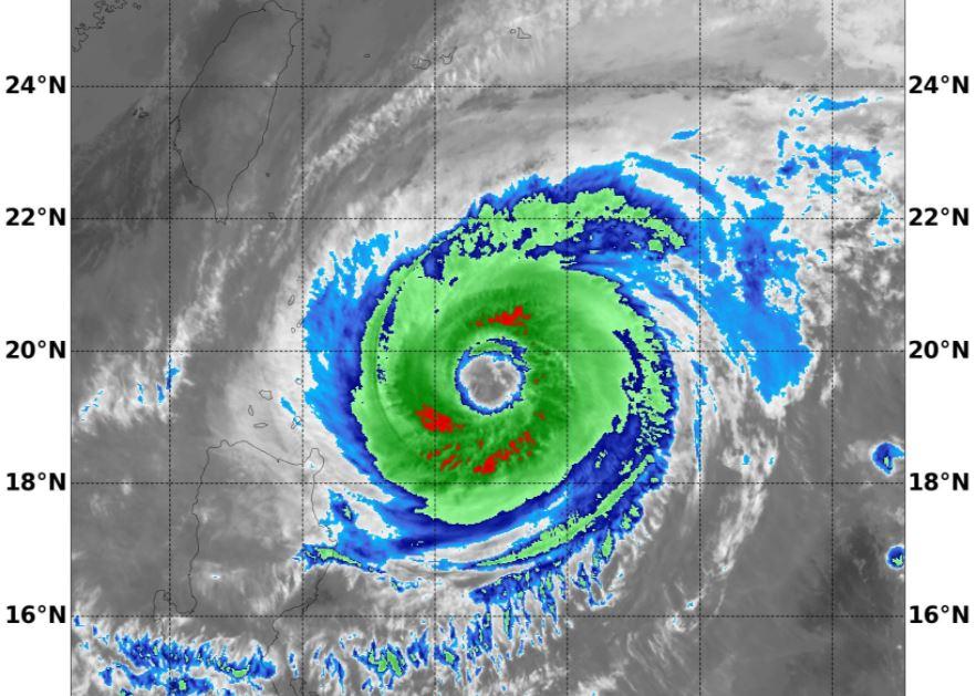 颱風舒力基今天最靠近台灣。圖/翻攝自Facebook @(鄭明典)