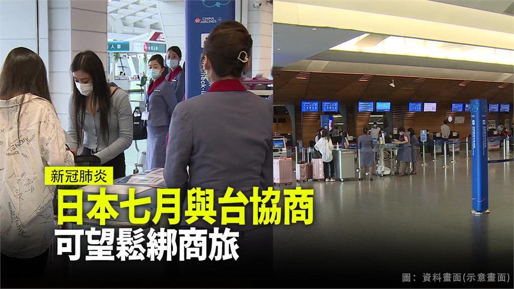 7月我國有望與日本展開協商,開放商務旅行。圖/台視新聞